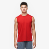 Eastbay EVAPOR Fitted Sleeveless Crew - Men's - Red / Red