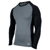 Eastbay EVAPOR Baseball Compression Top - Men's - Grey / Black