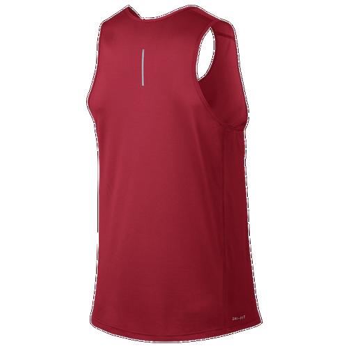 Nike Dri-FIT Miler Tank - Men's Running - University Red/University Red 33589657